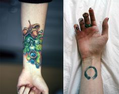 i love these; gorgeous examples of tattoo. they belong to charlie bowater. the one on the left was done by bez, of triplesix studios :)