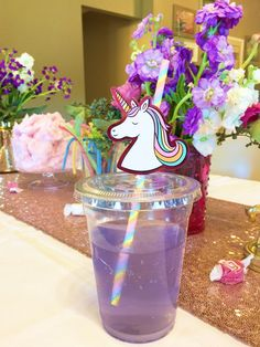 Unicorn punch for magical unicorn birthday party