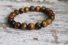 Tigers eye bracelet men's jewelry men's bracelet tiger eye skull bracelet skull jewelry skulls beaded bracelet
