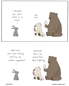 #icecreams is better than #fighting |  @lizclimo: isn't it, though?
