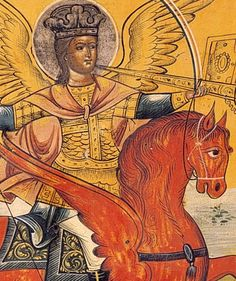 detail from an icon of St. Michael the Archangel*