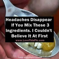 Have A Headache? You Can Make It Disappear Fast If You Mix These 3 Ingredients. I Couldn't Believe It At First!