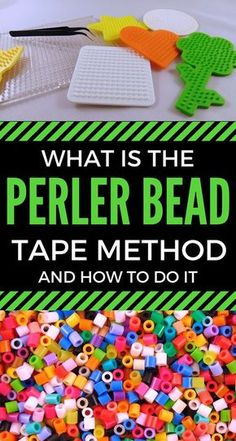 Stop warping your pegboards and try the Perler Bead tape method. It can really take the issues out of ironing your Perler Beads #perlerbeads #craft