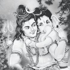 Lord Shiva Painting, Ganesha Painting, Ganesha Art, Lord Ganesha, Lord Shiva Sketch, Ganesha Sketch, Shiva Linga, Shiva Shakti, Shri Hanuman