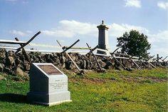 Stone wall on Cemetery Ridge, Gettysburg National Military Park -- Gettysburg, Pennsylvania