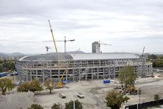 Roof making in new Groupama Arena in Budapest.