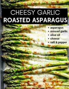 Oven Baked Asparagus, Asparagus Recipes Oven, Side Dishes Easy, Vegetable Side Dishes, Side Dish Recipes, Dishes Recipes, Recipies, Dinner Dishes, Food Dishes