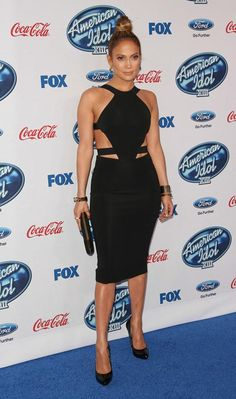 JLo, smoking hot in a cutout Cushnie Et Ochs dress at the American Idol Season 13 finalists party | Trend 911