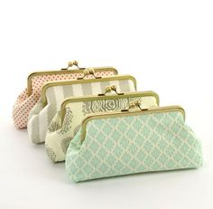 Bridesmaid Gifts Wedding Party Purses Custom by ModDotTextiles