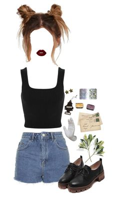 """even his mom doesnt like you"" by fuck0ffbye ❤ liked on Polyvore featuring Miss Selfridge, Lime Crime, Topshop and Interior Illusions Plus"