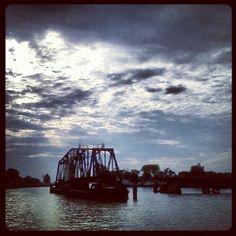 St. Joseph, Michigan. Silver Beach. The swing train bridge