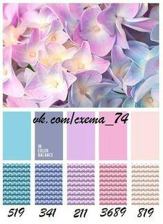 DMC colour palette