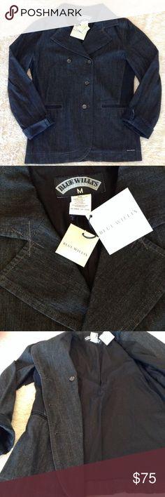 NWT Blue Willi's black denim blazer size M jacket NWT Blue Willis black denim blazer size M jacket. Lined interior, high quality jacket. Blue Willi's Jackets & Coats Blazers