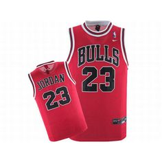 Nike Jordan Bulls Red NBA Jerseys #23 Black Numbers