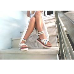 All white, everything! #mydebour handpainted sandals
