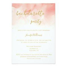 #bachelorette #party #invitations - #Pink watercolor bachelorette party invitations