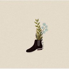 Ottokim Early Spring Flowers, Line Friends, Illustration Girl, Boot Camp, Pens, Minimalism, Art Photography, Character Design, Doodles