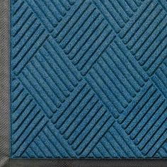 """Andersen 208 Medium Blue Polypropylene WaterHog Classic Diamond Entrance Mat, 10' Length x 3' Width, For Indoor/Outdoor by Andersen. $126.53. Perfect for most applications inside or out, WaterHog Classic Diamond's unique design makes it revolutionary. The rubber reinforced face nubs and diamond design provide crush proof scraping action. The raised rubber """"water dam"""" border traps dirt and water – keeping them off carpet and floors. Premium 24 oz/sq anti-static Poly..."""
