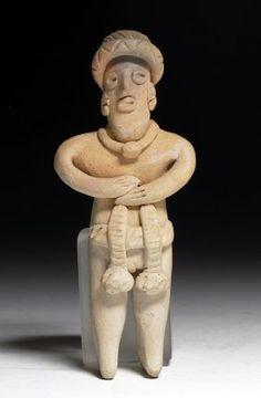 Pre-Columbian Colima Pottery Flat