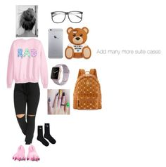 """""""Going to the airport ✌🏼️"""" by paris-234 ❤ liked on Polyvore featuring NIKE, Moschino, ZeroUV and MCM"""