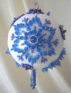 CB132 Snowfall Blue Freeform Christmas by WhiteHawkOriginals