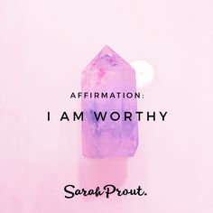 #affirmation: I am WORTHY. You ARE worthy. You deserve to rewire your thinking and open your heart to manifesting prosperity and abundance in ALL areas of your life. If you love these affirmations check out more here on my blog: http://bit.ly/1PEnuoR xo #affirmations#LoA #Manifest