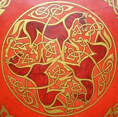 Celtic Horses Painting - Celtic Horses Fine Art Print