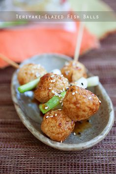 Teriyaki-Glazed Fish Balls