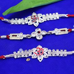 Shop #SilverRakhi at http://rakhi.giftalove.com/silver-rakhi-735.html