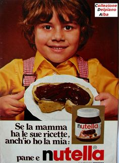 Vintage Italian ad for nutella