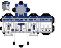 Star Wars Papercraft   R2-R8 Star Wars Papercraft- All Paper Craft