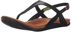 Ahnu Womens Salena Thong SandalBlack9 M US * Continue to the product at the image link.