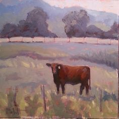 Impressionistic red angus