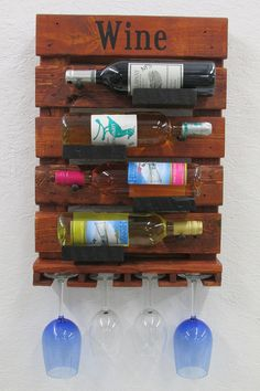 Rustic Wine Rack Reclaimed Wine Rack Ready To by PalletsNstuff You are in the right place about DIY Wine Rack copper Here we offer you the most beautiful pictures about the DIY Wine Rack lattice you a Pallet Furniture Wine Rack, Hanging Wine Rack, Rustic Wine Racks, Wall Storage, Recycled Wood, Cottage Chic, Wood Pallets, Crates, Wall Decor