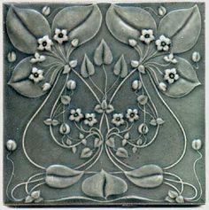 Art Nouveau Flower Tile by Gilliot et Cie Heimixen Belgium Art Nouveau Tiles, Art Nouveau Design, Art Nouveau Wallpaper, Antique Tiles, Vintage Tile, Azulejos Art Nouveau, Photos Booth, Art Nouveau Flowers, Art Nouveau Pattern