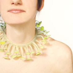 Jenny Llewellyn - Lumini necklace, green silicone, light gathering poly-carb