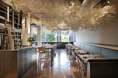 Tonka in Melbourne  - white steel mesh installation