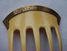 Peigne ART Deco Damasquine Tolede Hair Comb Haarkamm Peineta Toledo Oyonnax   eBay