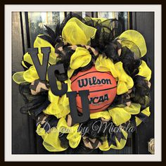 HAVOC VCU Rams Basketball Wreath Large Size by DesignsByMichela
