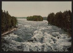 The rapids toward the pavillion Imatra by vintagephotograph