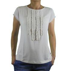 Camiseta chorreras mangas gasa