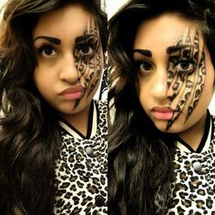 Snow leopard makeup I did on myself for Halloween | costume party ...