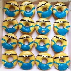 Original idea for a party of minions minion donuts by: @petisweet