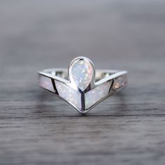 Angel Opal Ring | Tribal | Bohemian Gypsy Jewelry | Boho Festival Jewellery | Hippie Style Fashion | Indie and Harper