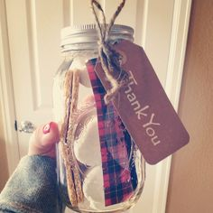 A Woodland Baby Shower- favors. Super easy with the mini mason jars (or the size of a couple s'mores). Mason jars can be bought in bulk or individually for $1 at Dollar Tree.