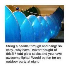 globos agujas y pulseras de colores