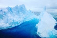 Didn't know that are so Even though it is just blue. But blue is Cool! Blue Tones, Antarctica, Travel Inspiration, How To Make Money, Boat, Cool Stuff, Awesome, Outdoor, Travel