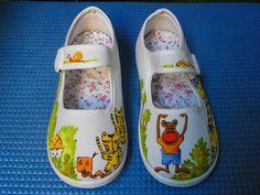 Zapatilla pintada a mano Diseño Animalitos II
