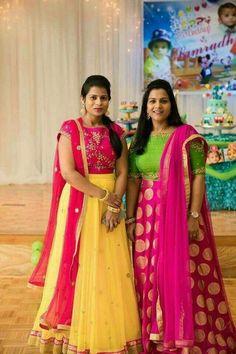 Half Saree Designs, Lehenga Designs, Blouse Designs, Dress Designs, Half Saree Lehenga, Anarkali Dress, Anarkali Suits, Lehenga Blouse, Indian Designer Outfits