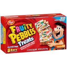 Post Fruity Pebbles Treats, Gluten Free, 8 Bars Image 1 of 8 Cereal Recipes, Snack Recipes, Fruity Pebbles Treats, Candy Craze, Junk Food Snacks, Marshmallow Treats, Candy Brands, Cereal Bars, Aesthetic Food